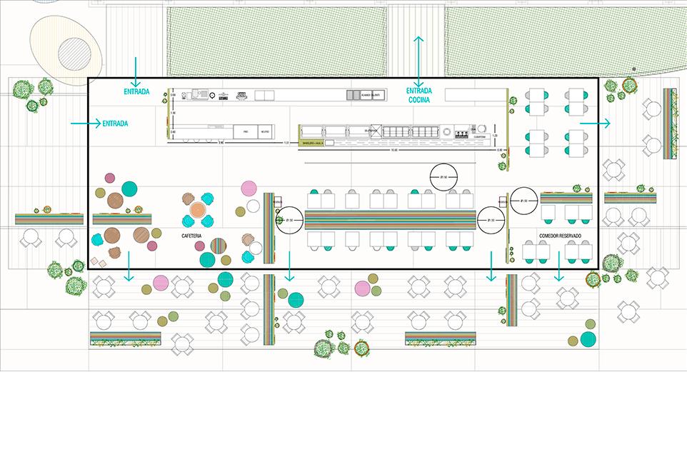 miriamcastells_diseño_interiores_cafeteria_hsjd_plano